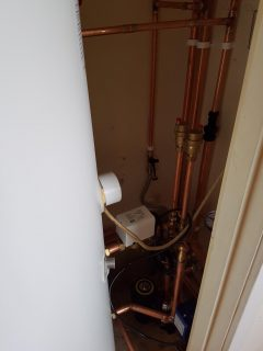 New gas boiler