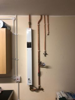 Electric boiler and 7 rad heating system