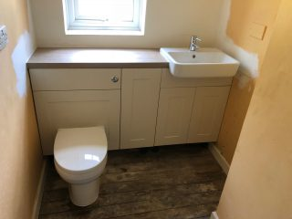 New toilet and basin