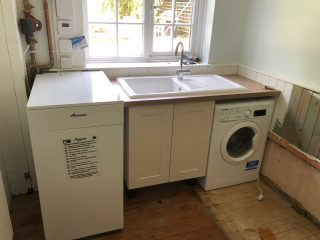 New boiler and kitchen sink