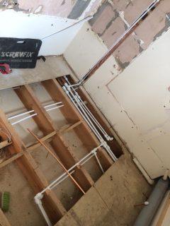 Running new pipes for bathroom refurbishment