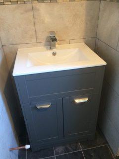 new wash hand basin for new bathroom install